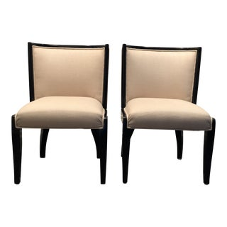 Modern Hollywood Regency Dining Chairs - A Pair For Sale