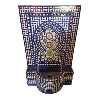 Moroccan Multicolor Tile Fountain For Sale