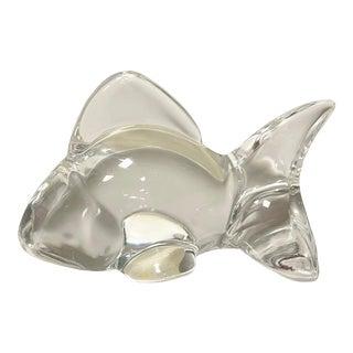 1960s Oneida Lead Crystal Fish Figurine For Sale