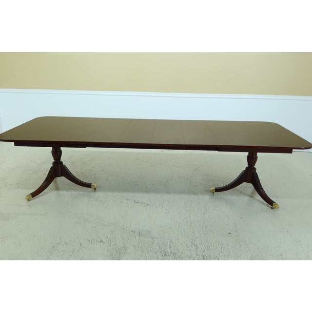 Wood Kindel Duncan Phyfe Oxford Mahogany Dining Room Table For Sale - Image 7 of 13