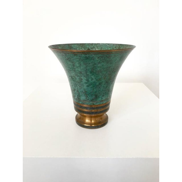 Carl Sorensen Signed Bronze Verdigris Vases - Image 7 of 10