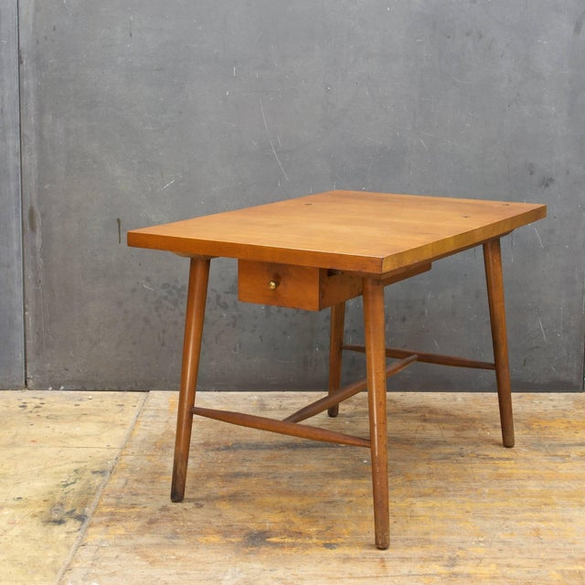 1950s Paul McCobb Predictor Group Nightstand Tobacco Birch Side Table Rustic Farmhouse For Sale - Image 5 of 8