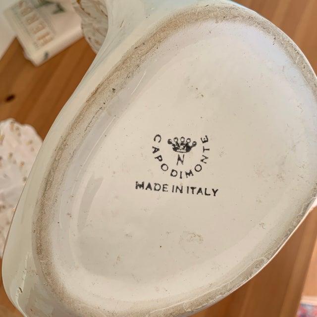 Italian White Porcelain Swan Vases - a Pair For Sale - Image 9 of 10