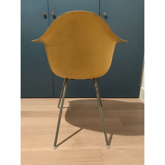 Mid-Century Modern 1970s Mid-Century Modern Herman Miller Yellow Fiberglass Eames Shell Side Chair For Sale - Image 3 of 7