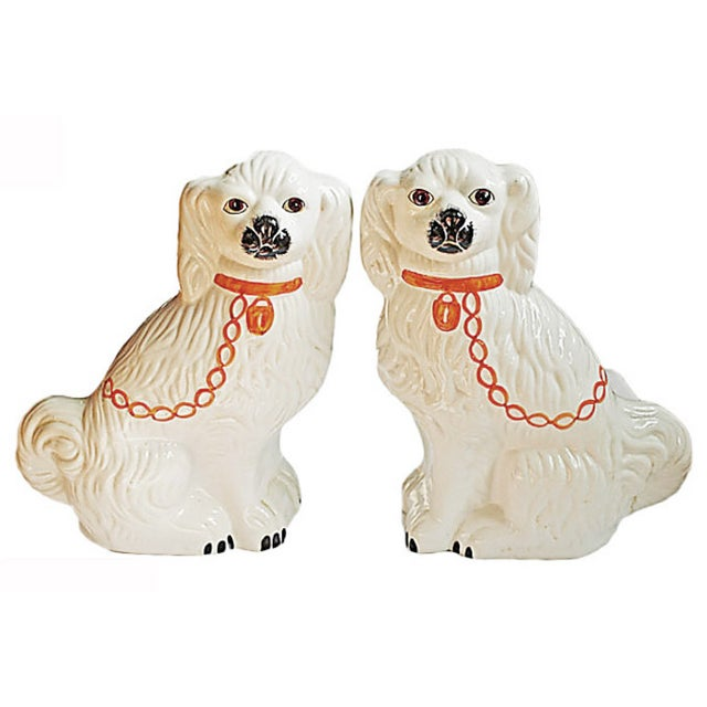 Pair of Vintage Ceramic Dogs - Image 1 of 4