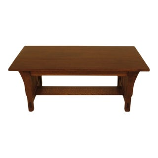 Warren Hile Studio Mission Oak Arts & Crafts Coffee Table