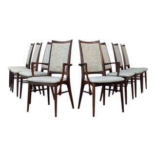 Koefoed Hornslet Rosewood Dining Chairs - Set of 8 For Sale