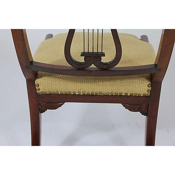 Antique Klismos Mahogany Chair For Sale In Boston - Image 6 of 6