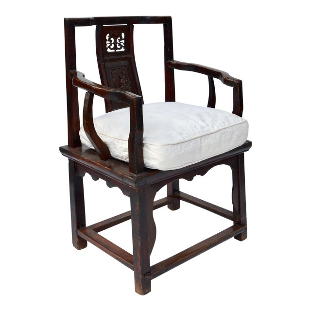 Antique Chinese Wood Carved Chair - Image 1 of 8