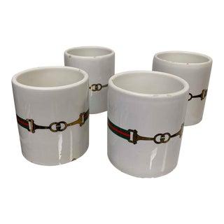 1970s Gucci Mugs Horsebit Mugs - Set of 4 For Sale
