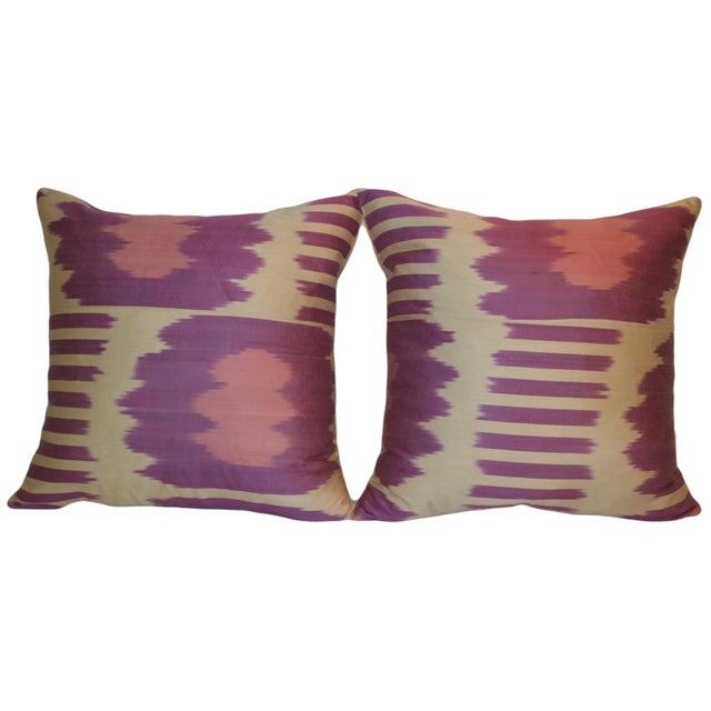 Fabric Ikat Pillows - A Pair - Image 3 of 3
