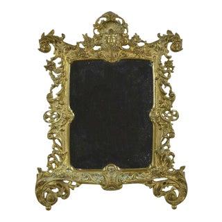 19th Century Antique Napoleon III Bronze Mirror For Sale