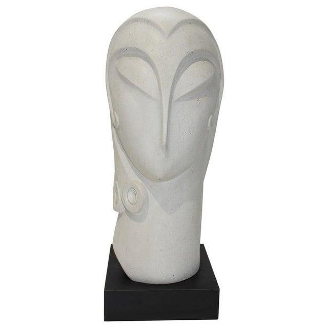 Vintage Art Deco Revival Fisher Sculpture Woman's Head Austin Productions Reproduction For Sale - Image 12 of 12