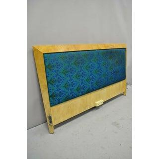 Mid Century Modern Art Deco Burl Wood Queen Size Birdseye Maple Bed Headboard Preview
