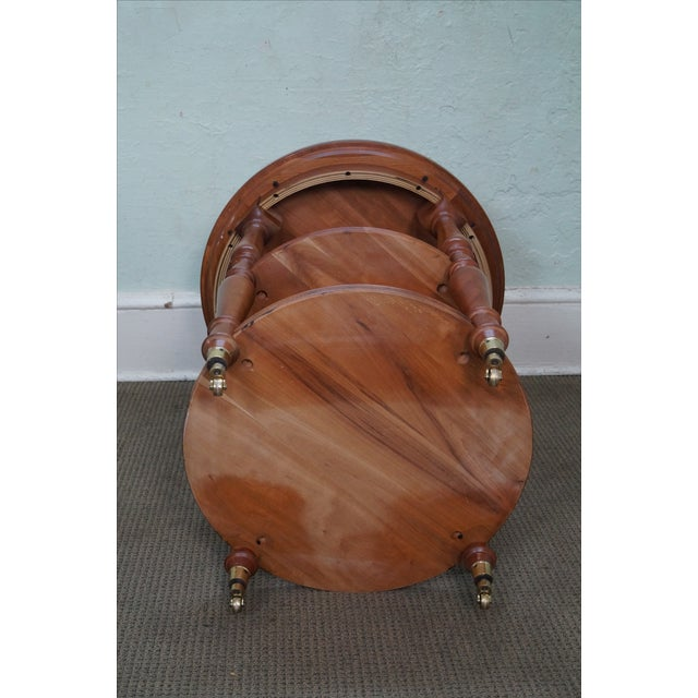 Harden Round 3-Tier Side Table For Sale - Image 7 of 10