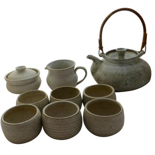 Mid-Century Studio Pottery Tea Set For Sale