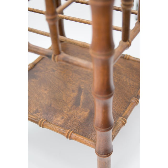 Tall Vintage Mid-Century Faux Bamboo Tiered Magazine Rack For Sale In Houston - Image 6 of 8