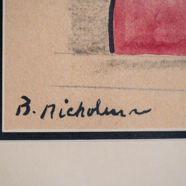 Abstract slant select -- Untitled. Nicholson (Royal Artist UK) For Sale - Image 3 of 4