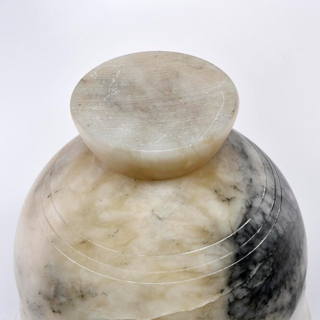 Italian Carved Alabaster Vase With Handles For Sale In Detroit - Image 6 of 11