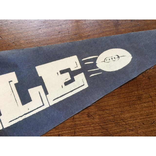 1930's Yale Football Pennant For Sale - Image 4 of 5