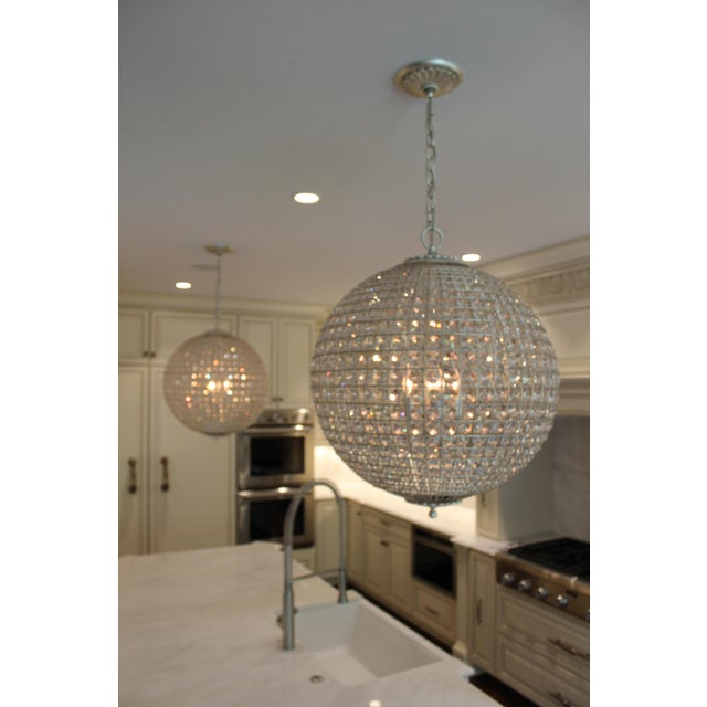 Aerin for Visual Comfort Crystal Renwick Pendants - A Pair For Sale In Richmond - Image 6 of 9