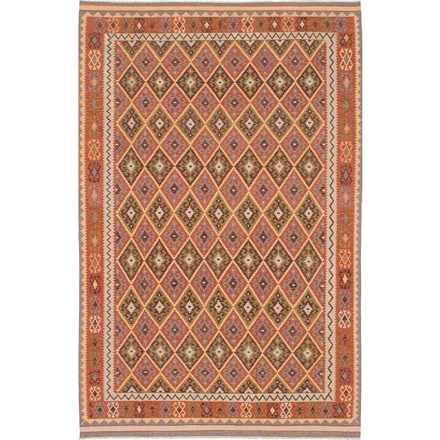Handmade Turkish Kilim Flat-Weave - 6′5″ × 10′2″ - Image 1 of 2