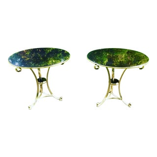 Contemporary Marble Top Gueridon Tables - a Pair For Sale