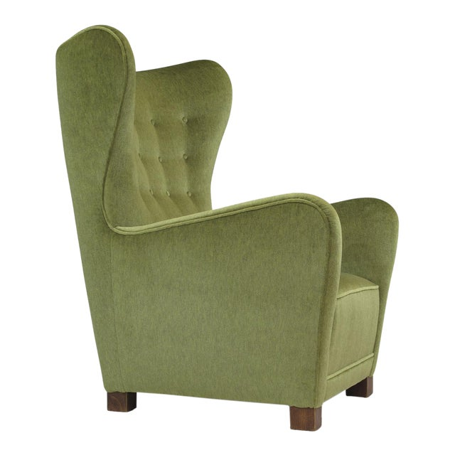 1942 Thorald Madsen for Fritz Hansen High Back Lounge Chair For Sale