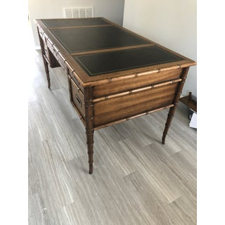 1960s Chinoiserie Drexel Faux Bamboo Writing Desk Preview