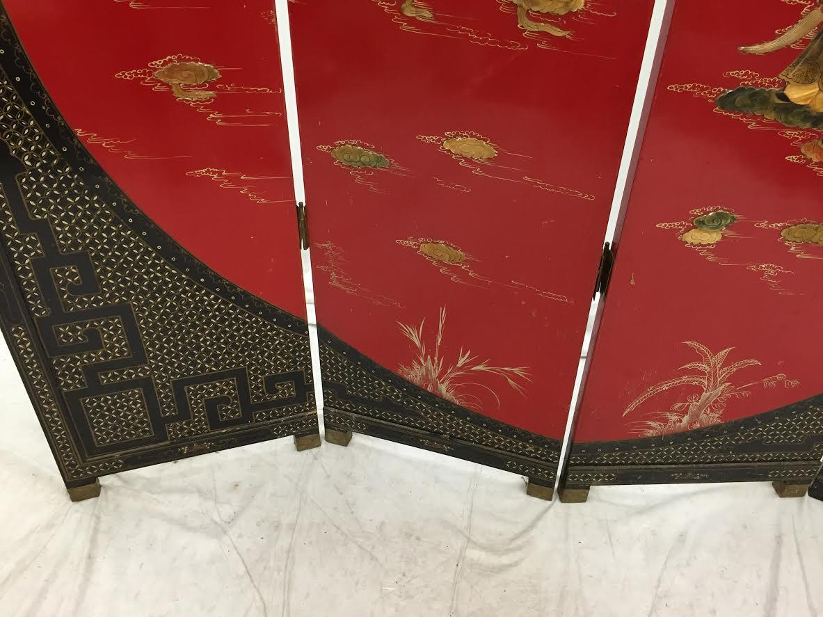 Vintage Asian Room Divider Screen Chairish