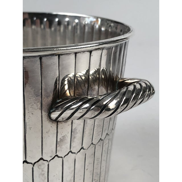 1920s Sanborns Mexican Sterling Silver Ice Bucket With Tongs and Tray For Sale - Image 5 of 13