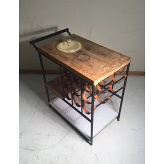 Arthur Umanoff Bar Cart With Wine Rack and Butcher Block Preview
