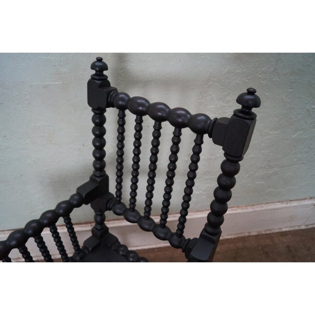 19th Century Solid Walnut Spool Turned Arm Chair For Sale In Philadelphia - Image 6 of 10