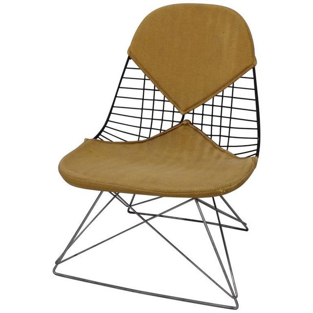 Brown Early and Original Charles and Ray Eames Lkr Chair on Zinc Cats Cradle Base For Sale - Image 8 of 8