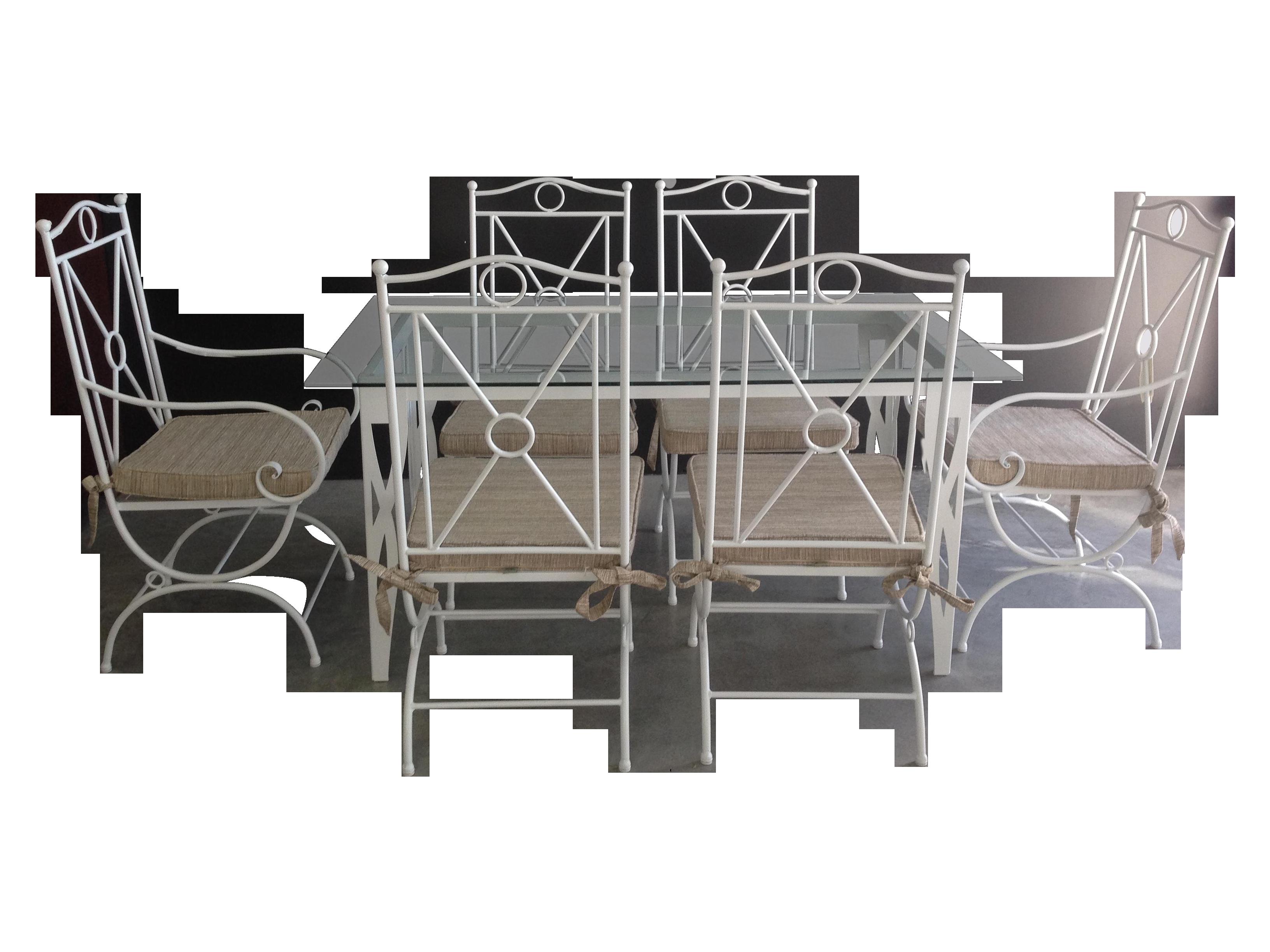 white wrought iron garden furniture. Handmade White Wrought Iron Patio Dining Set Garden Furniture P