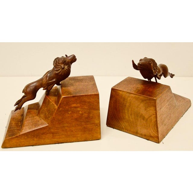 1930s Art Deco Ram Bookends - a Pair For Sale In Richmond - Image 6 of 9