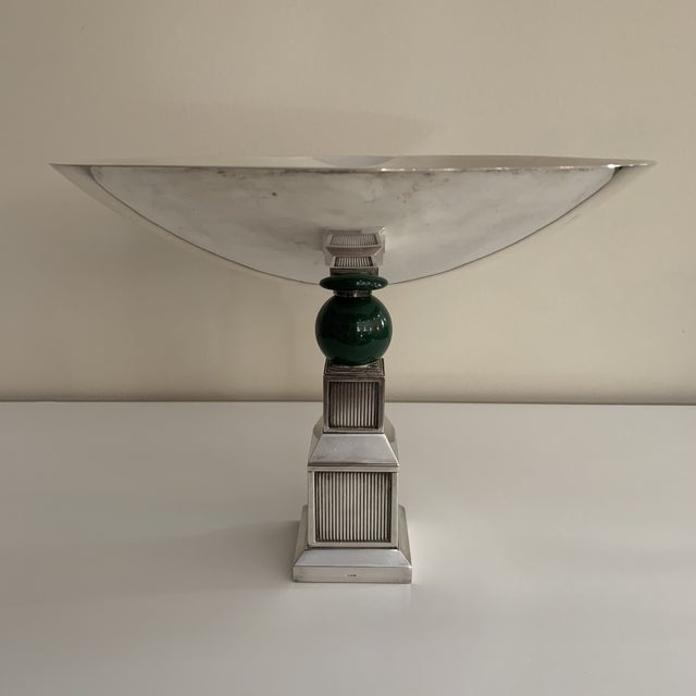 Vintage Gucci Silver Plate Centerpiece Bowl For Sale - Image 13 of 13
