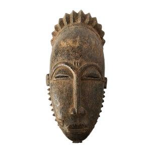 """African Baule Portrait Mask Cote d'Ivoire 15"""" H"""