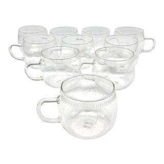 Mid Century Modern Schott Mainz Jena Glas Coffee, Tea, Punch Cup - Set of 10 For Sale