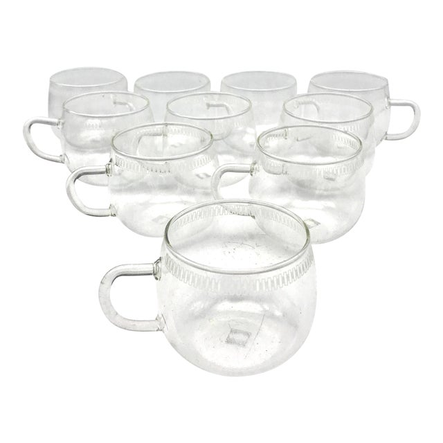 Mid Century Modern Schott Mainz Jena Glas Coffee, Tea, Punch Cup - Set of 10 For Sale
