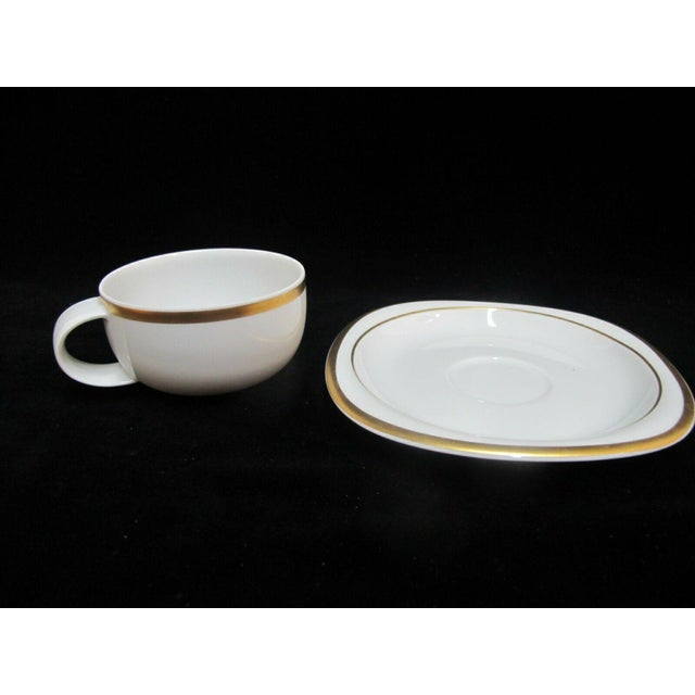 Rosenthal Vintage Rosenthal Studio Banquet Suomi Series Gold Gilt Cup Plate Setting - 5 Piece Set For Sale - Image 4 of 9