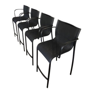 Magis Paso Doble Black Steel Stools - Set of 4