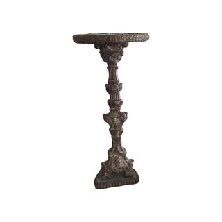 Antique Indo-Portugese Repousse Altar Candlestick For Sale