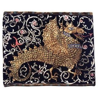 Dragon Silk Velvet Pillow For Sale