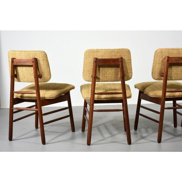 Metal 1952 Vintage Greta Grossman Model 6260 Chairs - Set of 4 For Sale - Image 7 of 10