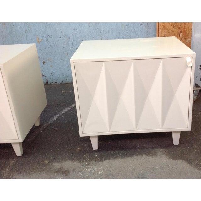 Erinn V. White Diamond Door Side Table - Image 3 of 5
