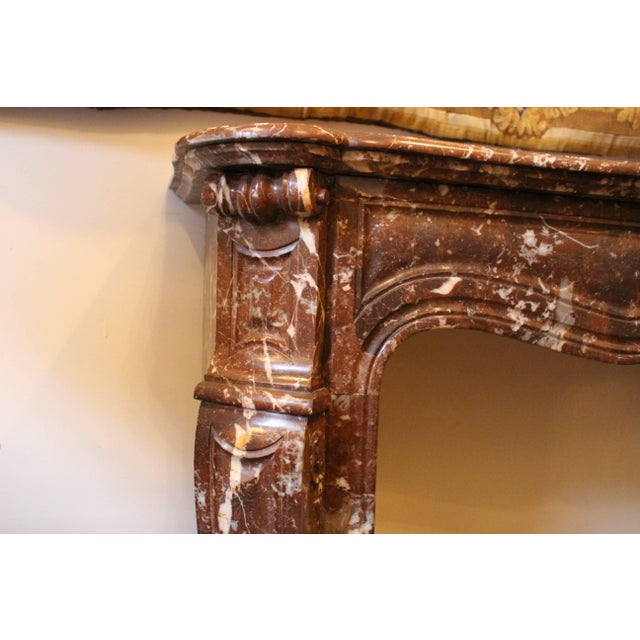 French Louis XV Style Marble Mantel For Sale - Image 4 of 9