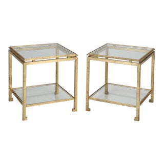 Pair of Side Tables Attributed to Guy Lefevre For Sale