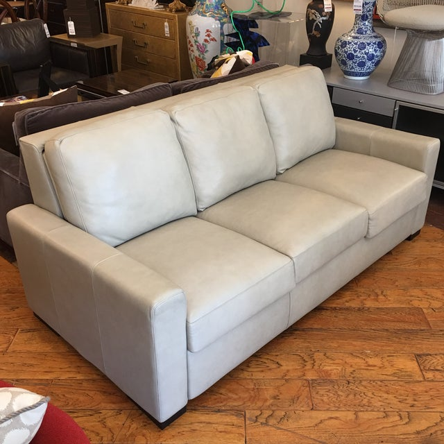 American Leather for Room & Board Convertible Sofa - Image 4 of 10