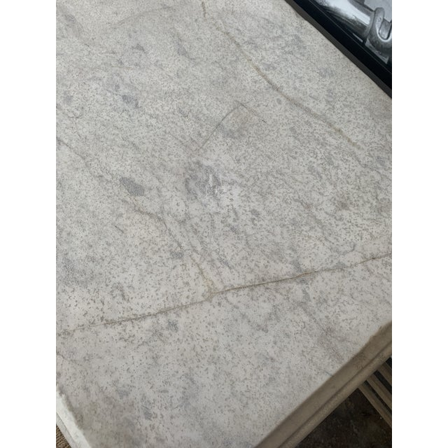 20th Century Neoclassical Style Marble Console Table For Sale In Los Angeles - Image 6 of 7